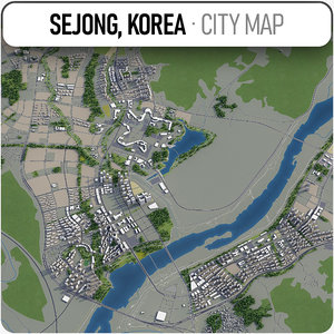 3D sejong surrounding - model
