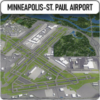 minneapolis-saint paul international airport 3D model
