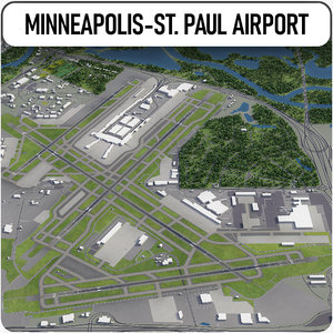 minneapolis-saint paul international airport 3D model