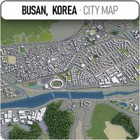busan surrounding - 3D model