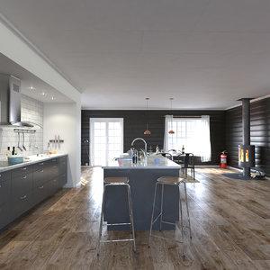 kitchen interior scene model