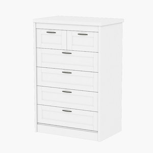 3D songesand ikea chest 6 model