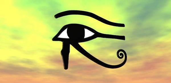 3D model eye horus