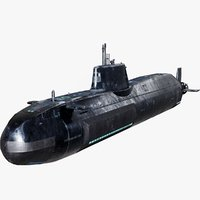 3D model astute-class submarine classes