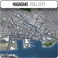 nagasaki surrounding - 3D model