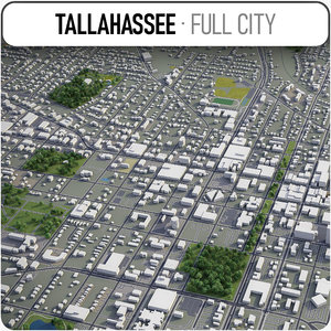 tallahassee surrounding area - 3D model