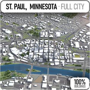 saint paul surrounding - 3D model