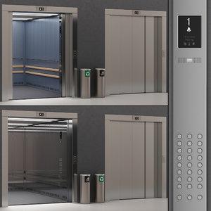 3D kone transys elevator kds model