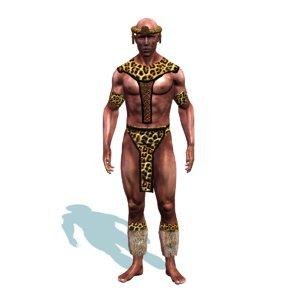 zulu warrior 3D model