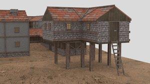 medieval town kit 3D model