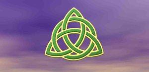 3D celtic knot trinity symbol