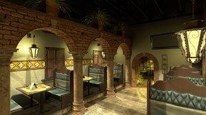 restaurant dining room 3D