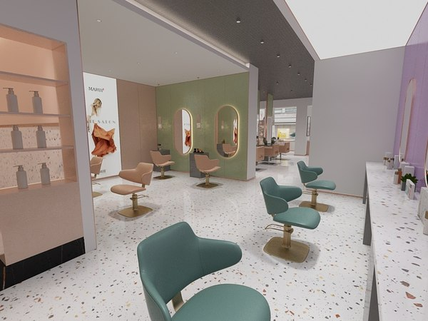 beauty shop 1 3D model