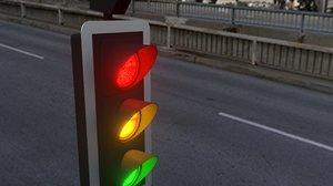 3D model uk traffic light