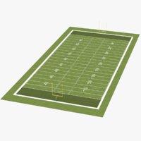 real football field 3D model