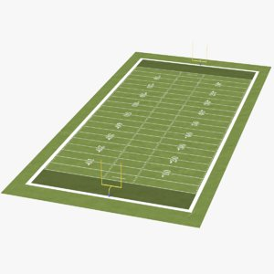 real football field 3D model