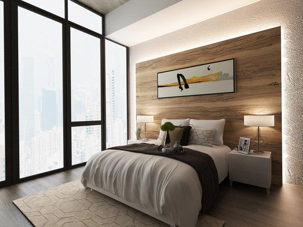 bedroom bed model