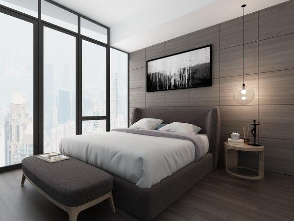 bedroom bed 3D