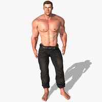 3D arnold schwarzenegger animations model