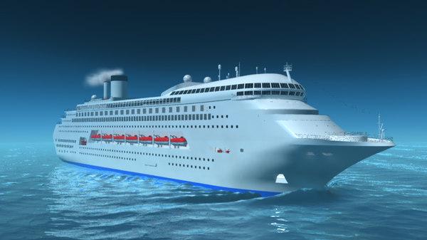 ship ocean 3D model