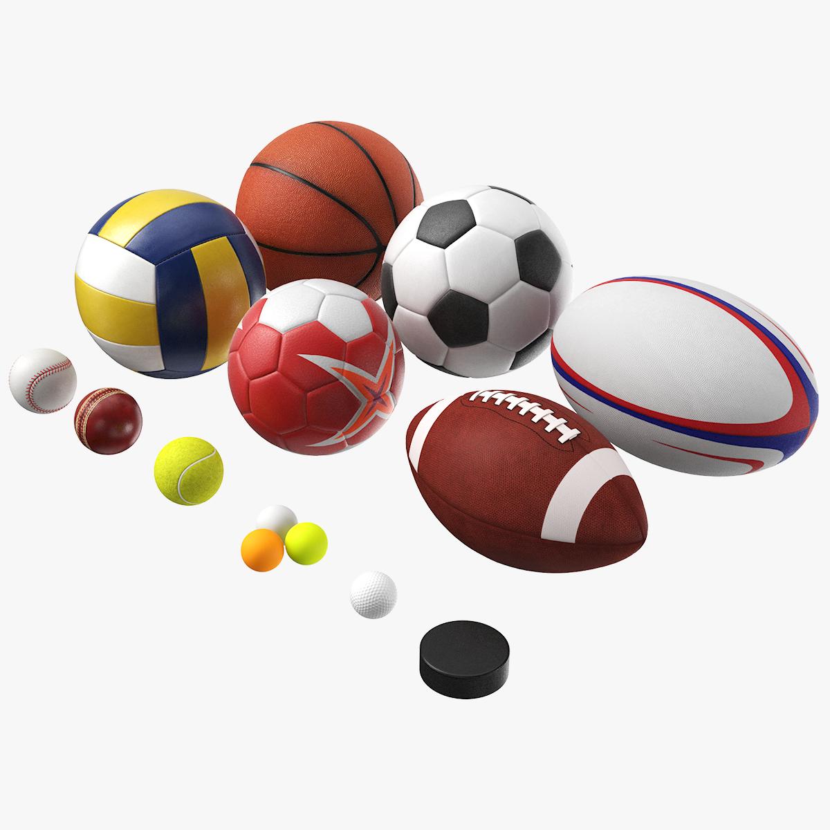 generic sport balls 3D model