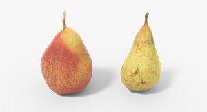3D model pear 01