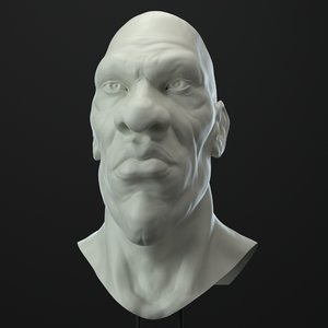 3D african male character head