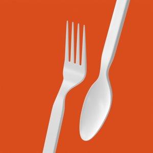 plastic fork spoon model
