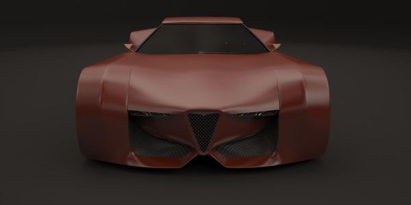 vision alfa romeo concept car 3D