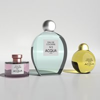 3D model perfume cologne bottles