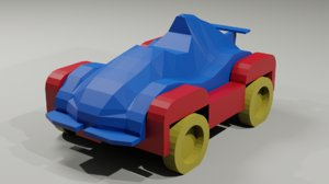 3D model games low-poly cars