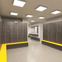3D lockerroom locker room