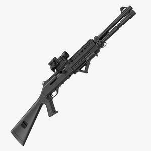 tactical benelli m1014 upgraded 3D model