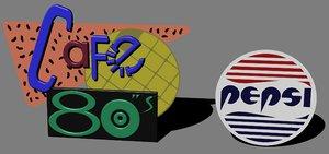 3D future 2 80s pepsi model