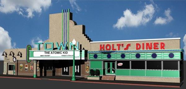 hill valley town louis 3D model