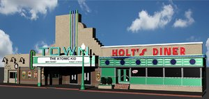 hill valley town louis 3D model