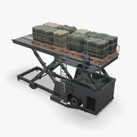 3D model military aircraft loader