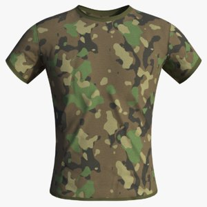 realistic military camouflage t-shirt 3D model