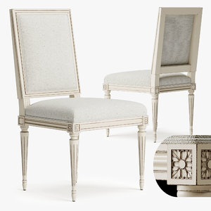 3D chair louis xvi model