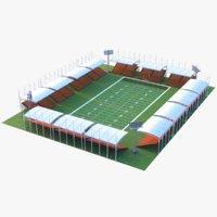 3D model real football stadium