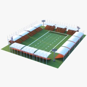 3D model real football stadium