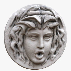 3D model medusa head fountain