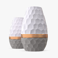 modern fashion hexagon vases 3D model