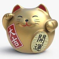 3D fortune cat model