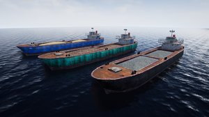 3D rusty barge