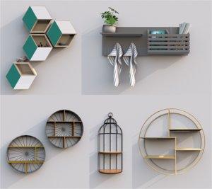 shelfs livingroom model