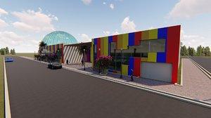 3D model revit children summer house