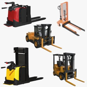 electric forklift 3D model