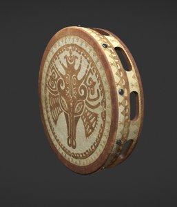 3D shamanic tambourine model