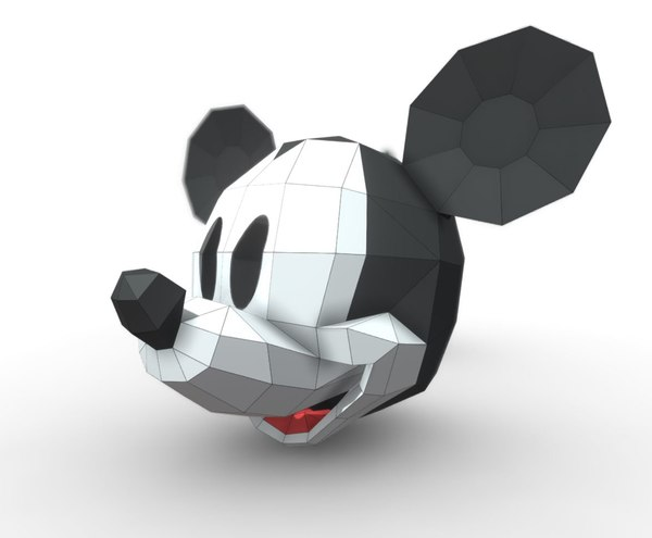 heads mask mickey 3D model